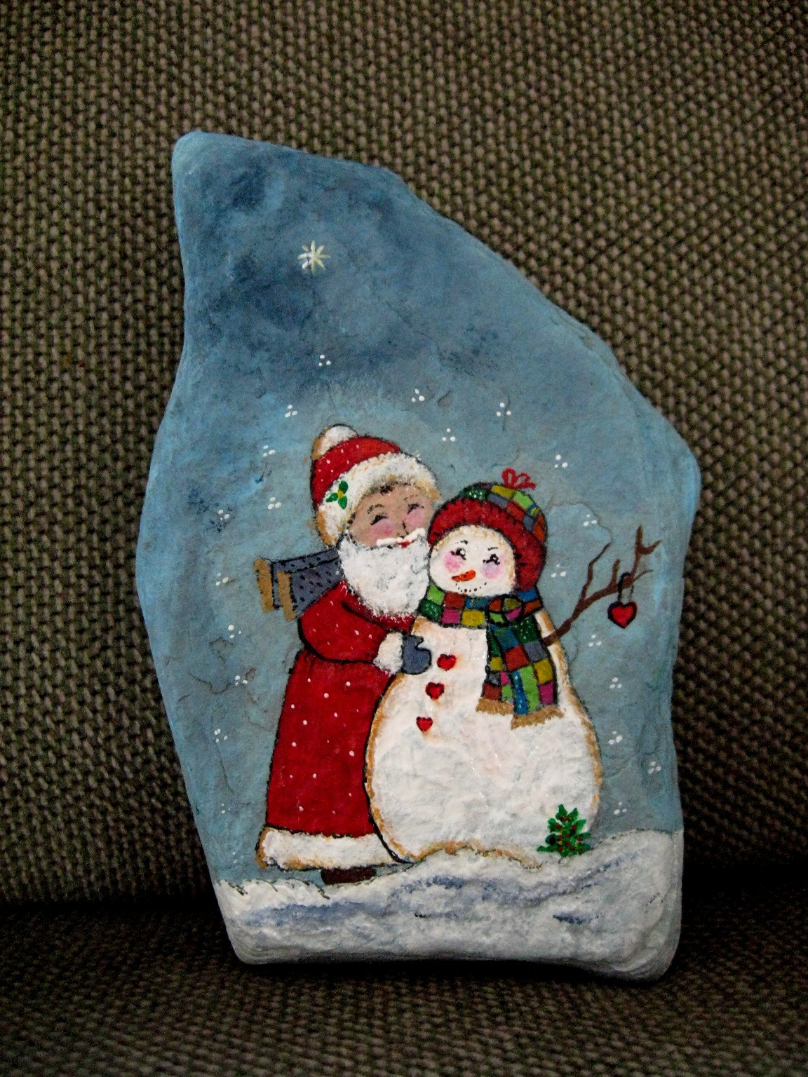 Christmas Rock Painting Images.Prepare For Christmas Rockpainting Exhibit Words And Peace