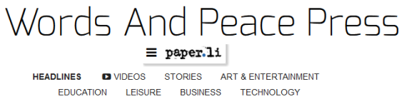 words and peace press