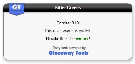 Bitter Greens winner