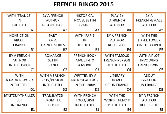 French Bingo 2015 card