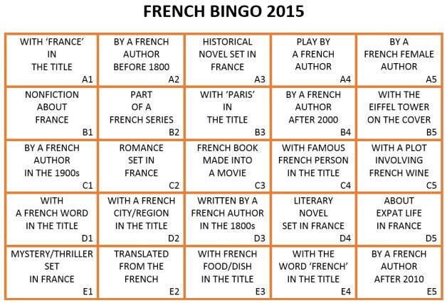 French Bingo 2015 card