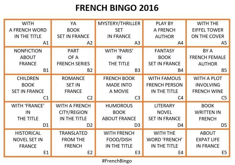 French Bingo 2016 card
