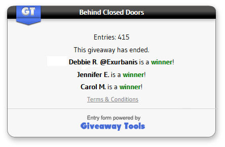 Behind Closed Doors winners