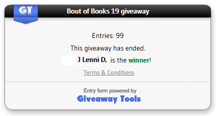 Bout of Books winner