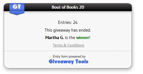 Bout of Books 20 winner