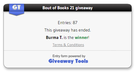 BoutofBooks 21 winner