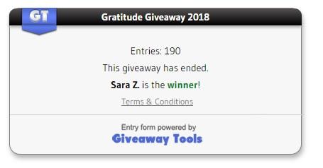 Gratitude winner