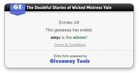 Doubtful Diaries winner