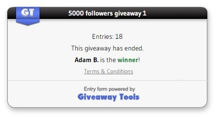 Giveaway 1 winners