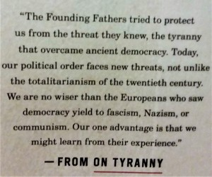 On Tyranny - BACK COVER